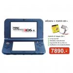 เครื่อง New 3DS XL Blue สีนำ้เงิน + อแดปเตอร์ 220v.oem