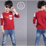 เสื้อ ยืด สีแดงแขนยาวผ้านิ่มมากค่ะเด็กโต size 130 ขนาดอก 26 นิ้ว ยาว 19 น้ิว ว size 160 อก 31 นิ้ วยาว 23 นิ้ว