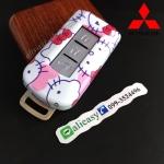 กรอบ-เคส ใส่กุญแจรีโมทรถยนต์ Mitsubishi Mirage,Attrage,Triton,Pajero ABS Smart Key ลาย Kitty