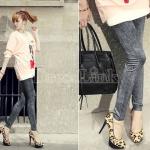 กางเกงผู้หญิง jeggings Leggings Tights สีดำ ฟรีไซส์