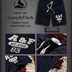 กางเกงขาสั้นผ้ายืดชาย กางเกงขาสั้น Abercrombie Fitch Men (AF) สีน้ำเงิน