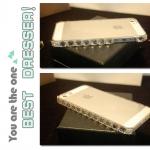 ฟรุ้งฟริ้ง:เคสกันรอยประดับด้วยคริสตัล สำหรับ iPhone 4/4s