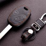 ซองหนังแท้ใส่ กุญแจรีโมทรถยนต์ Honda City/Jazz/Civic/CRV/Accord รุ่น 3 ปุ่มกด