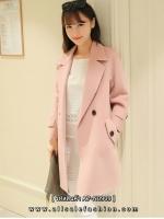 เสื้อโค้ทกันหนาวสีชมพู ลุคสวยน่ารัก สดใส สไตล์เกาหลี