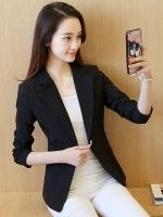 เสื้อสูททำงานผู้หญิงสีดำ ทรงสวย เข้ารูป ดูดี ใส่ได้ทั้งวันทำงานสบายๆ และวันทำงานที่ต้องการความเป้นทางการ