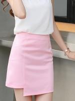กระโปรงสั้นสีชมพู ทรงเอ น่ารักๆ สไตล์เกาหลี