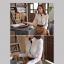 เสื้อเชิ้ตทำงานสีขาว เย็บตกแต่งผ้าสีดำชั้นใน แขนยาว คอปก เอวเข้ารูป thumbnail 2