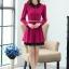 ชุดทำงานสวยๆ ชุดเดรสสั้น สีชมพูบานเย็น คอปก แขนยาว ให้ลุคสาวหวานสไตล์เกาหลี สวยหรู ดูดี ( S M L ) thumbnail 9