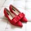 รองเท้า ส้นเตี้ย หัวแหลม แบบใหม่ สไตส์เกาหลี สี ดำ-เทา-แดง ไซส์ 35-39 ( Pre ) thumbnail 6