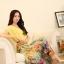 ชุดเดรสยาวแฟชั่นเกาหลี ชุดเดรสน่ารัก ชุดเดรสยาว ชุดเดรสลายดอก ชุดเดรสยาวกระโปรงลายดอกไม้ สีเหลือง ( M,L,XL,XXL ) thumbnail 3