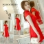 ชุดเดรสสั้นสีแดง คอจีน แขนสั้น สีพื้น เรียบๆ สวยดูดี ใส่ได้ทั้งเป็นชุดลำลองสวยๆ ชุดทำงานน่ารักๆ thumbnail 4