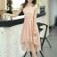 ชุดเดรสออกงานสวยๆ ชุดเดรสสั้น สีชมพู ผ้าชีฟอง ใส่ไปงานแต่งงาน ออกงานเลี้ยง ให้ลุคสาวหวานสไตล์เกาหลี สวยหรู ดูดี ( S M L XL ) thumbnail 2