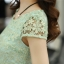 ชุดเดรสยาวสวยๆ สีเขียว เสื้อผ้าลูกไม้อย่างดีเย็บต่อด้วยกระโปรงผ้าชีฟอง ใส่ไปงานแต่งงาน ออกงานเลี้ยง ให้ลุคสวยหรู ดูดี S M L XL thumbnail 3