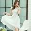 ชุดเดรสออกงานสวยๆ ชุดเดรสสั้นสีขาว ผ้าชีฟอง ใส่ไปงานแต่งงาน ออกงานเลี้ยง ให้ลุคสาวหวานสไตล์เกาหลี สวยหรู ดูดี ( S M L XL ) thumbnail 1