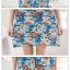 ชุดเดรสสั้นสีฟ้า ลายดอกไม้ แขนสั้น เย็บเปิดไหล่ ทรงหลวม สวยหวาน thumbnail 2