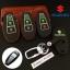 ซองหนังแท้ ใส่กุญแจรีโมทรถยนต์ รุ่นด้ายสีเรืองแสง ใหม่ All New Suzuki Swift,Ciaz thumbnail 1