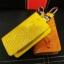 กระเป๋าซองหนังแท้ ใส่กุญแจรีโมทรถยนต์ หนังจระเข้ สีสันสดใส thumbnail 8