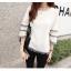 เสื้อสีขาว แขนยาวแต่งระบายสวยๆ ทรงตรงใส่สบาย แฟชั่นเกาหลี thumbnail 10