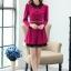 ชุดทำงานสวยๆ ชุดเดรสสั้น สีชมพูบานเย็น คอปก แขนยาว ให้ลุคสาวหวานสไตล์เกาหลี สวยหรู ดูดี ( S M L ) thumbnail 8