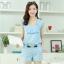 ชุดเดรสแฟชั่นเกาหลี ชุดเดรสแฟชั่นน่ารัก ชุดเชตเสื้อคอกลมแขนกุด + กางเกงขาสั้น ( M, L, XL ) thumbnail 1