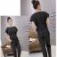 ชุดแฟชั่นเกาหลีสวยๆ สีดำ ชุดเสื้อ-กางเกงขายาว thumbnail 2