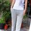 กางเกงขายาวผ้ายืดผู้หญิง กางเกงขายาว Anjoy & Fitchไซส์ M (AF) สีเทา thumbnail 14