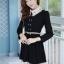 ชุดทำงานสวยๆ ชุดเดรสสั้น สีดำ คอปก แขนยาว ให้ลุคสาวหวานสไตล์เกาหลี สวยหรู ดูดี ( S M L ) thumbnail 2
