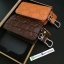 กระเป๋าซองหนังแท้ ใส่กุญแจรีโมทรถยนต์ รุ่นซิบรอบ พิมพ์ลาย Gucci thumbnail 1