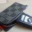 กระเป๋าซองหนังแท้ ใส่กุญแจรีโมทรถยนต์ Louis Vuitton ลายตาราง สี ดำ,น้ำตาล thumbnail 10