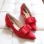 รองเท้า ส้นเตี้ย หัวแหลม แบบใหม่ สไตส์เกาหลี สี ดำ-เทา-แดง ไซส์ 35-39 ( Pre ) thumbnail 8