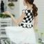 ชุดเดรสทำงานสาวออฟฟิศ สีดำขาว ลายตาราง กระโปรงสีขาว แนวเกาหลี สวยหวาน เรียบร้อย thumbnail 6