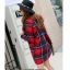 เสื้อโค้ทลายสก๊อตสีแดง ทรงสวย เนื้อผ้าดี ลุคสวยน่ารัก สดใส สไตล์เกาหลี thumbnail 2
