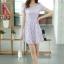 ชุดทำงานสวยๆ ชุดเดรสสั้น สีม่วง ให้ลุคสาวหวานสไตล์เกาหลี สวยหรู ดูดี เรียบร้อย ( S,M,L,XL ) thumbnail 5
