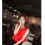 ชุดเชตเสองชิ้นเข้าชุด เสื้อ กระโปรง โทนสีแดง ดำ เรียบๆ ดูดี สไตล์แฟชั่นเกาหลี thumbnail 6