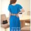 ชุดเดรสออกงาน,ชุดไปงานแต่งงานสวยๆ ชุดเดรสยาว สีฟ้า ผ้าชีฟอง ให้ลุคสาวหวานสไตล์เกาหลี สวยหรู ดูดี ( S M L ) thumbnail 2