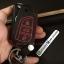 ซองหนังแท้ ใส่กุญแจรีโมทรถ รุ่นด้ายสี ทรูโทน พิมพ์โลโก้ Toyota Hilux Revo,New Altis 2014-17 พับข้าง 3 ปุ่ม thumbnail 10