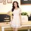 ชุดทำงานสวยๆ ชุดเดรสสั้น สีขาว ให้ลุคสาวหวานสไตล์เกาหลี สวยหรู ดูดี เรียบร้อย ( S,M,L,XL ) thumbnail 5
