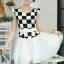 ชุดเดรสทำงานสาวออฟฟิศ สีดำขาว ลายตาราง กระโปรงสีขาว แนวเกาหลี สวยหวาน เรียบร้อย thumbnail 3