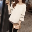 เสื้อสีขาว แขนยาวแต่งระบายสวยๆ ทรงตรงใส่สบาย แฟชั่นเกาหลี thumbnail 6