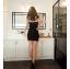 ชุดเดรสเสื้อกรามสั้น สีดำ - สีเทา ไซส์ M thumbnail 6