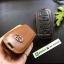 ซองหนังแท้ ใส่กุญแจรีโมทรถยนต์ รุ่นหนังนิ่ม Toyota Vellfire,Alphard 2015-17 Smart Key 6 ปุ่ม โลโก้-เงิน thumbnail 4