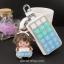 กระเป๋าซองหนังใส่ กุญแจรีโมทรถยนต์ ได้ทุกรุ่น ประดับคริสตัล DIY สี ขาว/เขียว/ฟ้า (ไม่รวม-ตุ๊กตา) thumbnail 2