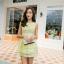 ชุดเดรสแฟชั่นเกาหลี ชุดเดรสน่ารัก ชุเดรสสั้น ผ้า organza คอกลม แขนกุด เอวเข้ารูป กระโปรงบาน ( S,M,L ) thumbnail 6