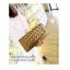 กระเป๋าสตางค์ ซิปรอบ แบบพับยาว / กระเป๋าคลัทช์ สีทอง thumbnail 3
