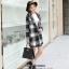 เสื้อโค้ทลายสก๊อตสีดำเทา ทรงสวย เนื้อผ้าดี ลุคสวยน่ารัก สดใส สไตล์เกาหลี thumbnail 6