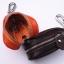 กระเป๋าซองหนังแท้ ใส่กุญแจ อเนกประสงค์ สี ดำ - น้ำตาล - น้ำตาลอ่อน thumbnail 4
