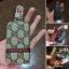 กระเป๋าซองหนัง ใส่กุญแจรีโมทรถยนต์ รุ่นซิบรอบ พิมพ์ลายโลโก้ Gucci thumbnail 8