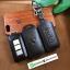 ซองหนังแท้ ใส่กุญแจรีโมทรถยนต์ หนังลาตินั่มคอร์ Mitsubishi Mirage,Attrage,Triton,Pajero Smart Key 2,3 ปุ่ม thumbnail 2
