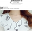ชุดเดรสสั้นสีขาว พิมพ์ลายสีดำ แขนยาว ชีฟอง คอวี เอวเข้ารูป น่ารัก thumbnail 4