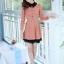 ชุดทำงานสวยๆ ชุดเดรสสั้น สีชมพู คอปก แขนยาว ให้ลุคสาวหวานสไตล์เกาหลี สวยหรู ดูดี ( S M L ) thumbnail 8